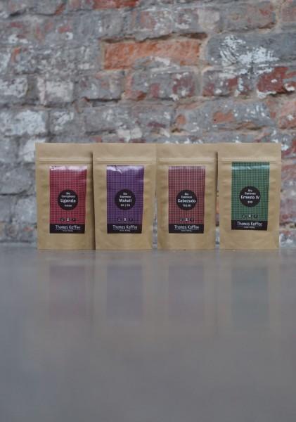 Probierpaket - Thomas Kaffee Bio Espresso 4x100g