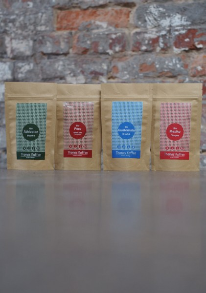 Probierpaket - Thomas Kaffee Bio Filterkaffee 4x60g